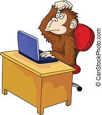 コンピュータ, サル, 漫画