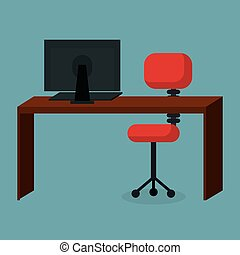 コンピュータ, ビジネスオフィス, 仕事場