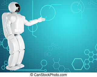 コンピュータ, ロボット, 背景