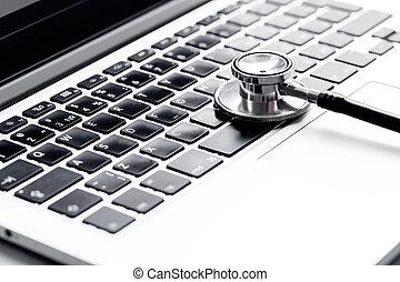 コンピュータ, 映像, 概念, -, 診断