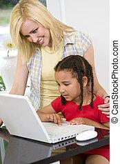 コンピュータ, 母, 子供