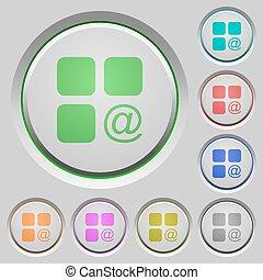 コンポーネント, 発送, 電子メール, 押しボタン