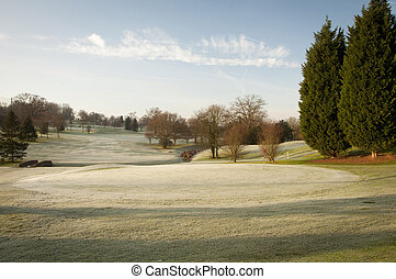 コース, ゴルフ, 冬