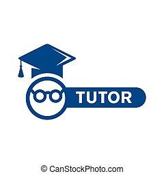 コース, 家庭教師, ロゴ, 教育, ベクトル