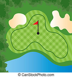 コース, 穴, ゴルフ