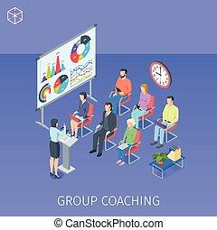 コーチ, グループ, 訓練, 中心