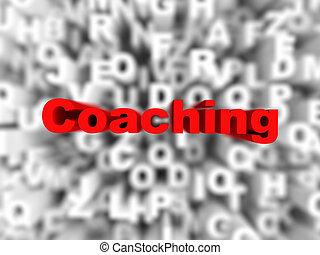 コーチ, 単語, 活版印刷, 背景
