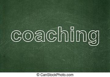 コーチ, concept:, 背景, 黒板, 勉強