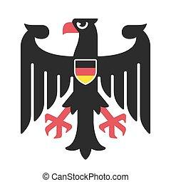 コート, ドイツ, 腕, ワシ