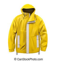 コート, 黄色, 雨