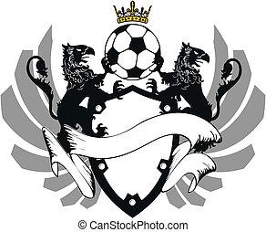 コート, heraldic, サッカー, 腕, 7
