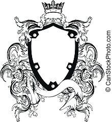 コート, heraldic, 腕, copyspace9