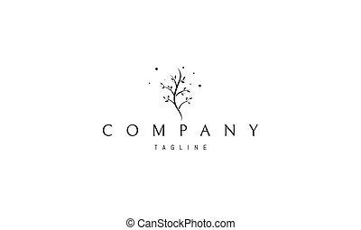 コード, イメージ, 抽象的, 形態, 木。, ロゴ, 背骨, ベクトル