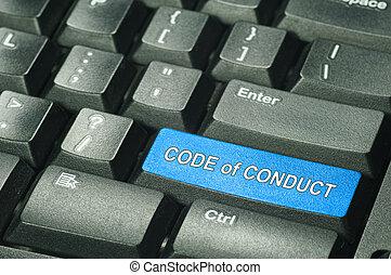 コード, 概念, -, ビジネス 行ない