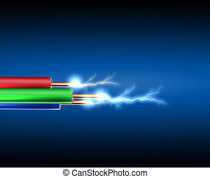 コード, 電気, 電気である, sparkls