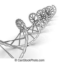 コード, dna 順序, レンダリング, ∥そ∥, 構造, 3d