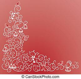 コーナー, クリスマス, パターン