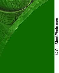コーナー, デザイン, コピー, 緑のスペース