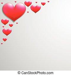 コーナー, バレンタインデー, カード, 心
