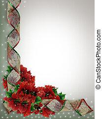 コーナー, リボン, デザイン, クリスマス