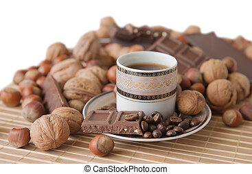 コーヒーのカップ, ∥で∥, チョコレート