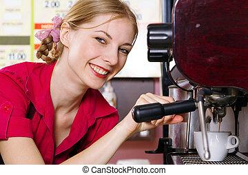 コーヒーを作ること, 味方, ウェートレス