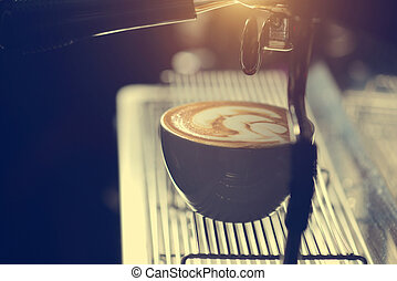 コーヒーを作ること, barista