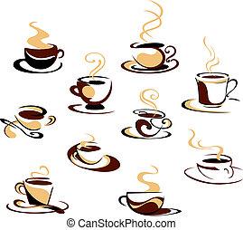 コーヒーカップ, セット