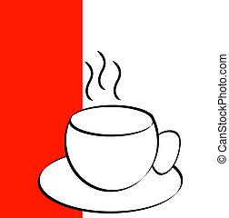 コーヒーカップ, チャマグ, 背景, ∥あるいは∥