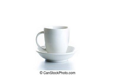 コーヒーカップ, 背景, 白