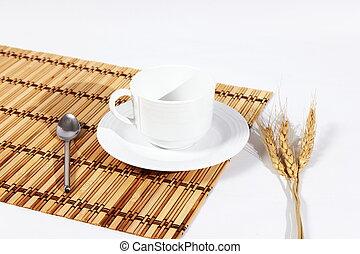 コーヒーカップ, 隔離された, 白