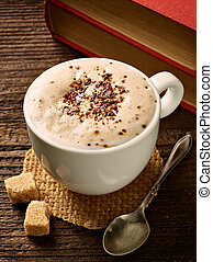 コーヒーカップ, 飲みなさい, エスプレッソ, 大袈裟な表情をしなさい, カフェ