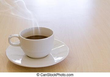 コーヒーカップ, 飲みなさい, 暑い