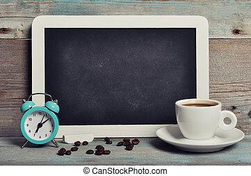 コーヒーカップ, 黒板