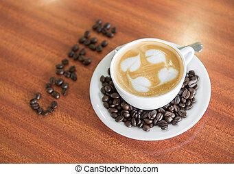 コーヒーカップ, latte