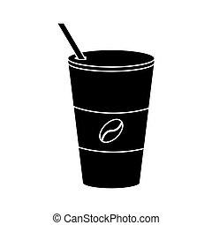 コーヒーカップ, pictogram, 暑い, ペーパー, トーゴ