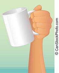 コーヒーマグ, 手を持つ