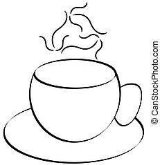 コーヒーマグ, 抽象的, 蒸気