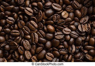 コーヒー豆, 背景, 手ざわり