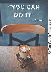 コーヒー, やる気を起こさせる, 引用, 効果, フィルター, レトロ, インスピレーションを与える