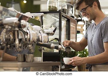 コーヒー, よい, 芸術, 醸造