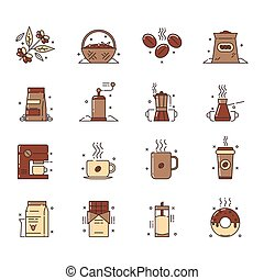コーヒー, アイコン, イラスト