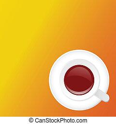コーヒー, イラスト, カップ