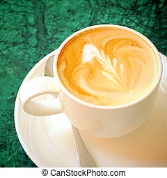 コーヒー, カプチーノ, スペース, latte, コピー, ∥あるいは∥