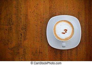 コーヒー, カプチーノ, 白いコップ
