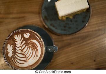コーヒー, カプチーノ, 芸術, カップ, エスプレッソ, latte