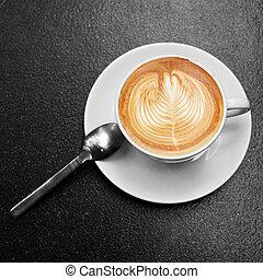 コーヒー, ガラス。, 白