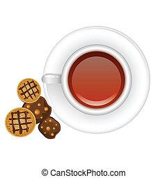 コーヒー, クッキー