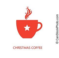 コーヒー, クリスマス, カップ