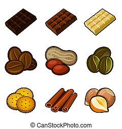 コーヒー セット, チョコレート, アイコン
